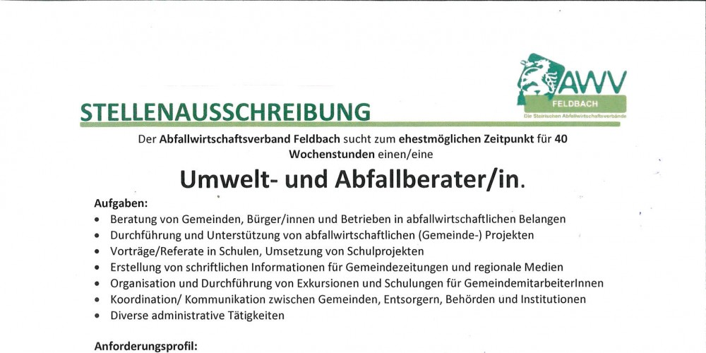 Foto: Foto: Abfallwirtschaftsverband Feldbach