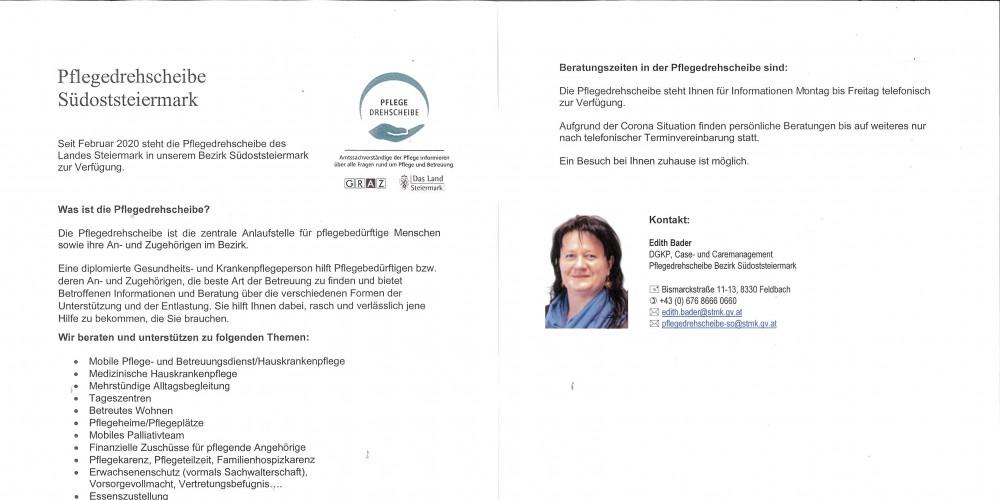 Foto: Foto: Pflegedrehscheibe Südoststeiermark