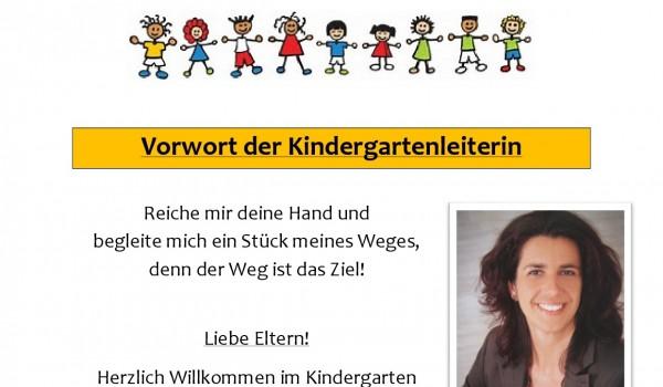 Vorwort der Kindergartenleiterin